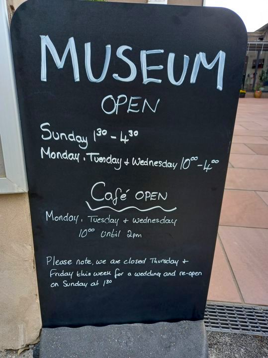 Museum & Cafe Open Sign