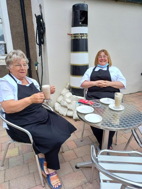 Stables Cafe Staff Taking A Break